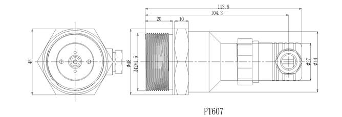 PT-607外形尺寸