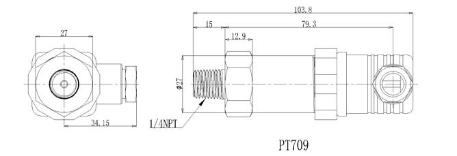 PT-709外形尺寸